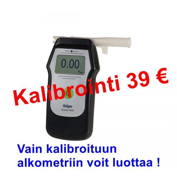 Dräger alkometrin kalibrointi
